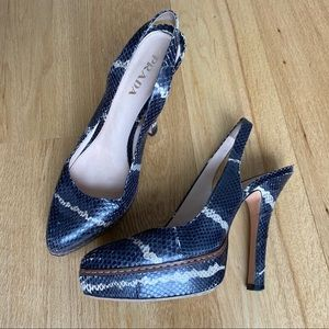 🆕 Genuine Prada Snakeskin Platform Pumps